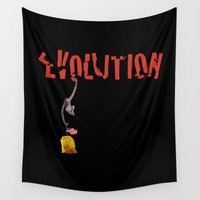 evolution Wall Tapestries featuring EVOLUTION. by alex preiss