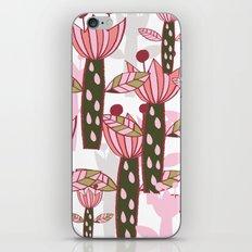 flower pink contemporary kids nursery iPhone Skin
