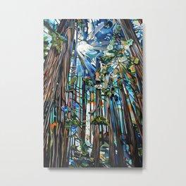 Golden Cedars Metal Print