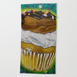 DonutCupcake Beach Towel