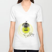 firefly V-neck T-shirts featuring Firefly by Tink.hr