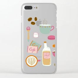 Drawing Coffee in a Café Clear iPhone Case