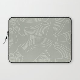 Minimalist Blue Whale Laptop Sleeve