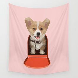 Corgi Delivery Wall Tapestry
