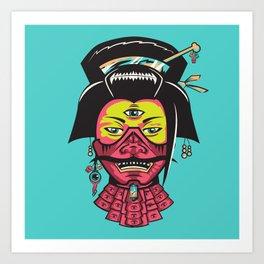 Samurai Geisha Art Print