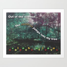 Avalanche of Leaves Art Print