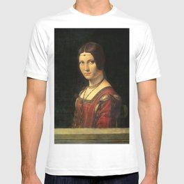 Leonardo da Vinci - Ritratto di donna, dice La Belle Ferronnière T-shirt