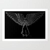 Angel in White 1 Art Print