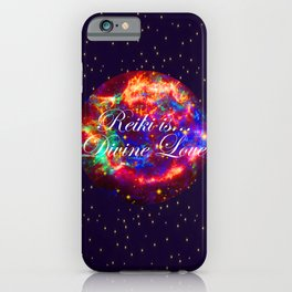 Reiki is Divine Love | The Energy it Flows | Going with the Flow iPhone Case