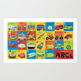 Transportation ABCs Art Print