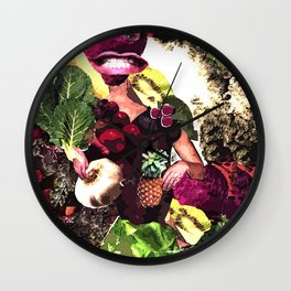 Fruit and Vegetable Salad Surprise Wall Clock