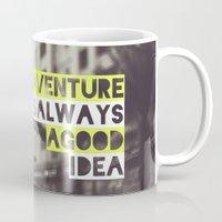 adventure Mugs featuring Adventure by Tina Crespo