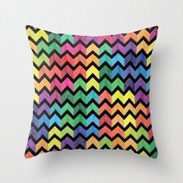 Watercolor Chevron Pattern V Throw Pillow