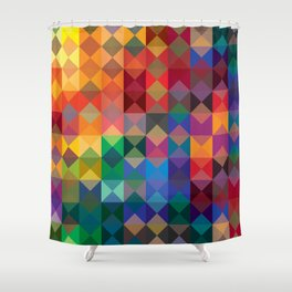 P2: Dusk Diamonds Shower Curtain