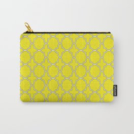 Yellow Quatrefoil Pattern Carry-All Pouch