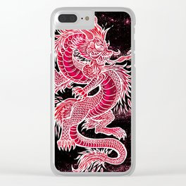 Stellar Dragon Clear iPhone Case
