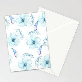 Renaissance Magic Gnome Blue Flowers Stationery Cards