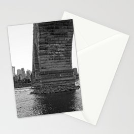 Stone Arch Bridge and Minneapolis Skyline Black and White Stationery Cards