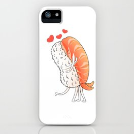 Romantic Sushi Hug iPhone Case