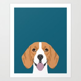 Lenon - Beagle gifts for pet owners and dog person with a beagle Art Print