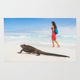 Galapagos wildlife beach Rug