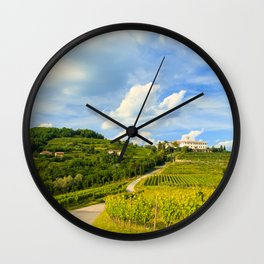 Sunset in the vineyards of Rosazzo Wall Clock