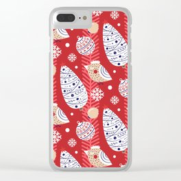 Merry birds Clear iPhone Case