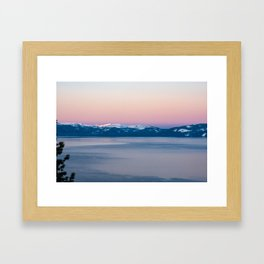 View of Lake Tahoe from Incline Village. Nevada. USA. Framed Art Print