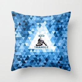 Blue Bjj Triangle choke. Jiu-jitsu grappling Throw Pillow