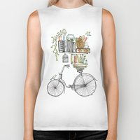 whimsical Biker Tanks featuring Pleasant Balance by florever