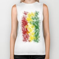 rasta Biker Tanks featuring Rasta Honu by Lonica Photography & Poly Designs