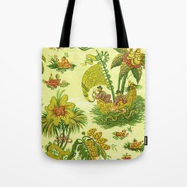 Chartreuse Chinoiserie Tote Bag
