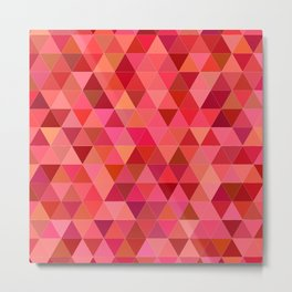 Red triangle tiles Metal Print