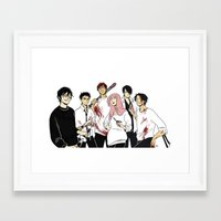 kuroko Framed Art Prints featuring Nameless Murder Club by Vicky Newberry