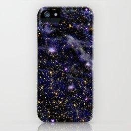 Nebula texture #3: Blue Blaze iPhone Case