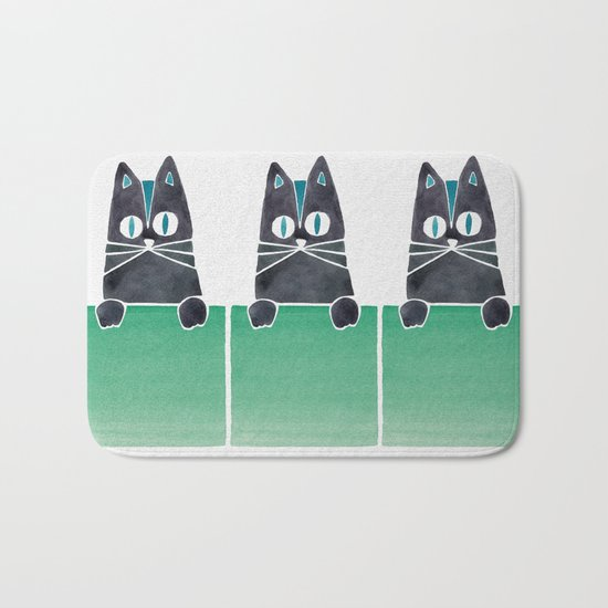 Cats in Boxes Bath Mat