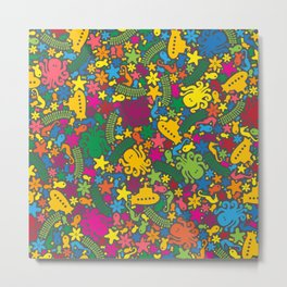 Under the Sea Scatter Metal Print