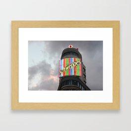 Schweppes Madrid Framed Art Print