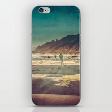 Ocean Beach Wanderlust - Blue Sea Oregon Adventure iPhone & iPod Skin