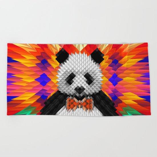 Geo Panda Beach Towel