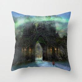The Jade Gates Throw Pillow