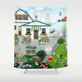 Purr-fect Blooms Shower Curtain