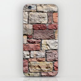Old castle stone wall iPhone Skin