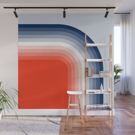 70s Stripes Rainbow Wall Mural