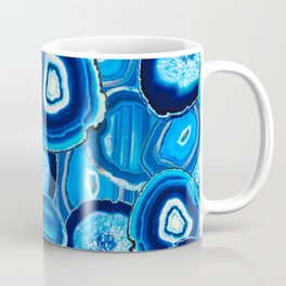 Geode Slices No.1 in Aquamarine + Sapphire Blue Coffee Mug