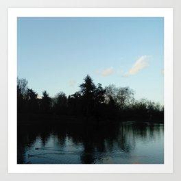 Nature, landscape and twilight 4 Art Print