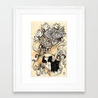 virgo Framed Art Prints featuring Virgo by Anna Rosenfeld