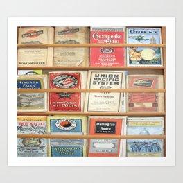 American Rail Brochures, Steamship Lines & More! Art Print