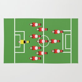 Soccer football team in red Rug