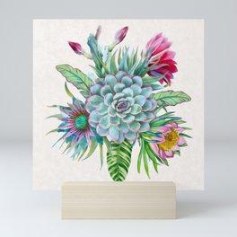 Exotic flower garden Mini Art Print